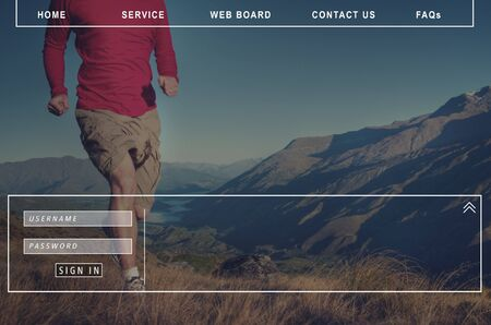 faqs: Contact Us Faqs Member Password Sign-in Homepage Concept