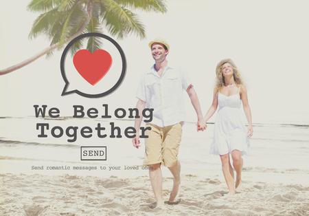 belong: We Belong Together Valentine Romance Love Toast Dating Concept Stock Photo