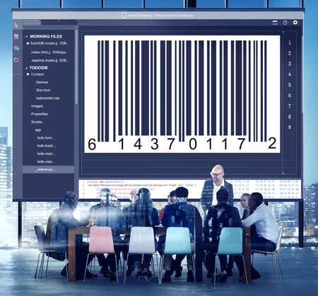 Bar code Interface Encryption Concept Codage
