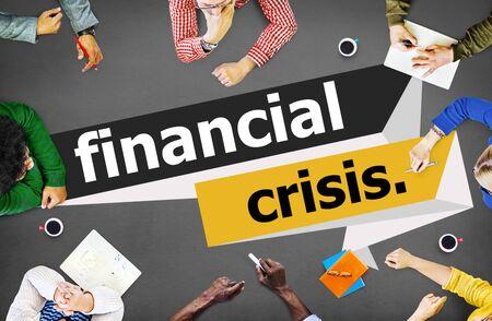 Crise financière Argent problème Concept Banque d'images