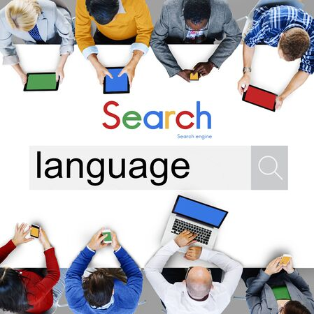slang: Business Team Connection Technology Search Concept Stock Photo