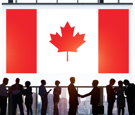 Canada National Flag Business Communication Concept Imagens