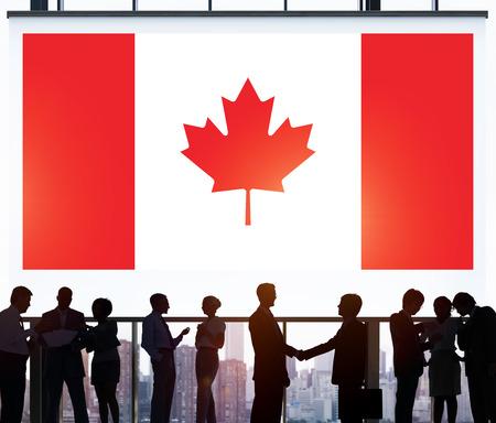 Concept de communication d'entreprise de drapeau national du Canada Banque d'images - 52798982