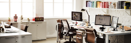 Contemporary Room Workplace Office Supplies Concept 스톡 콘텐츠
