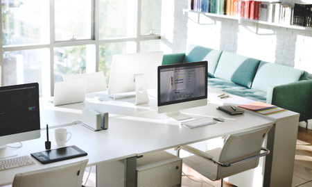 Contemporary Room Workplace Office Supplies Concept Foto de archivo