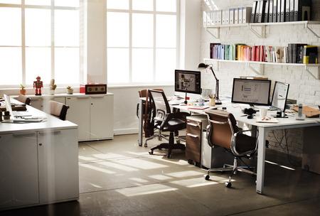 Modernes Zimmer Arbeitsplatz Bürobedarf Konzept
