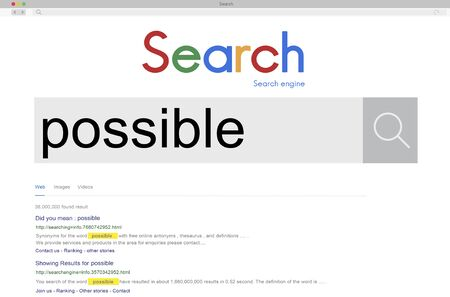 plausible: Possibility Possible Solution Achievable Ambition Concept Stock Photo