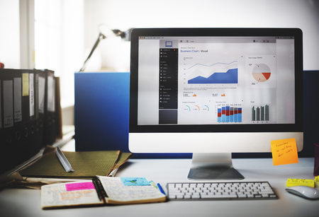 Dashboard Strategy Research Data Workplace Concept Stockfoto