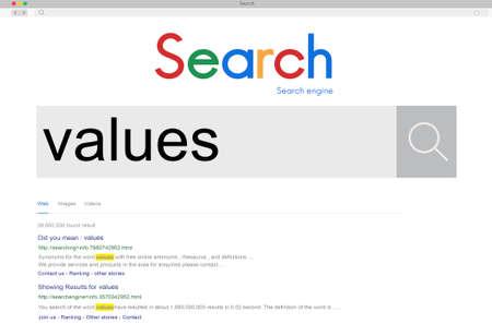 spent: Values Evaluate Price Rate Cost Worth Spent Economy Concept Stock Photo