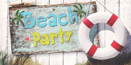 Beach Party Cheerful Chilling Leisure Festival Freedom Concept