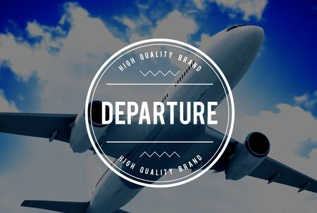 deviation: Departure Departing Depart Going Leaving Travel Concept Stock Photo