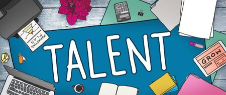 talented: Talent Gifted Skills Abilities Capability Expertise Concept Stock Photo