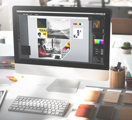 Design Studio Creativity Ideas Wood Palette Decoration Concept Imagens