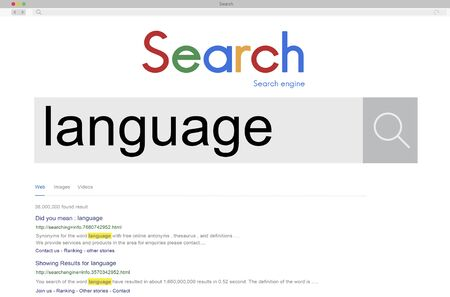 lingo: SEO Search Word Connection Internet Concept Stock Photo