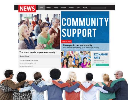 huddle: Team Teamwork Support Friendship Huddle Concept