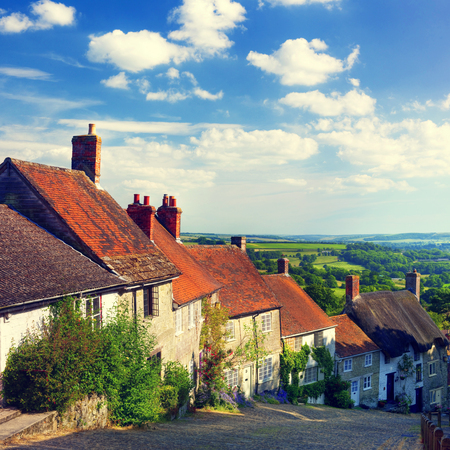 shaftesbury: Quintessential English Scene Tranquil Scene Concept Stock Photo