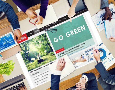 Go Green Ecology Environment Natural Concept Stock Photo