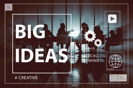 creative communication: Big Ideas Creativity Design Thought Vision Concept