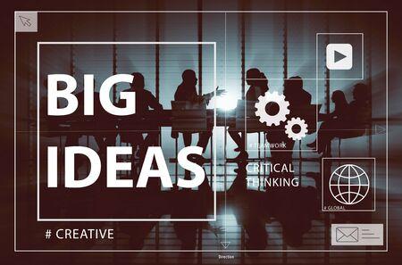 creative design: Big Ideas Creativity Design Thought Vision Concept