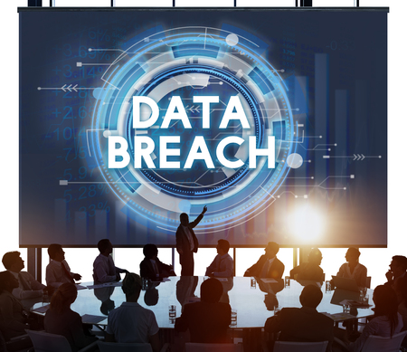 cyber security: Data Breach Hacker Information Incursion Concept