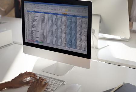 ビジネス会計統計統計概念の作業 写真素材