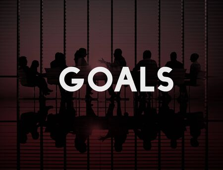man business oriented: Goals Aspiration Target Vision Confidence Hopeful Concept