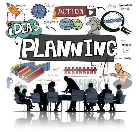guidelines: Planning Action Ideas Strategy Teamwork Concept