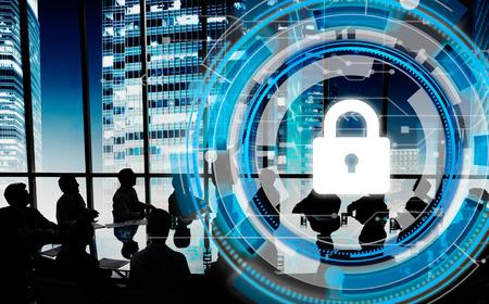 ビジネス企業の保護安全セキュリティ コンセプト 写真素材