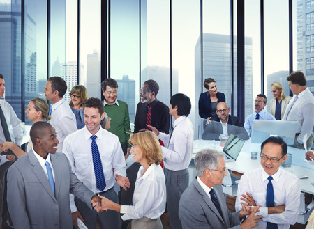 Business People Conversation Communication Talking Team Concept Stock Photo