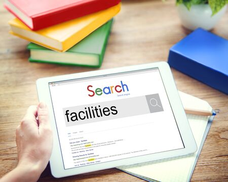 the flair: Facilities Flair Potential Amenity Building Skill Space Concept Stock Photo