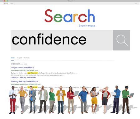 conviction: Confidence Belief Reliability Conviction Concept Stock Photo