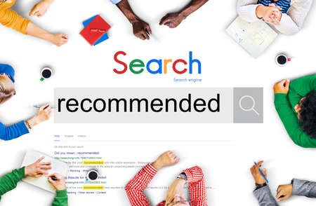 Recommended Recommendation Satisfaction Offer Concept 免版税图像