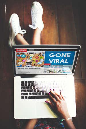 Gone Viral Online Marketing Sharing Concept
