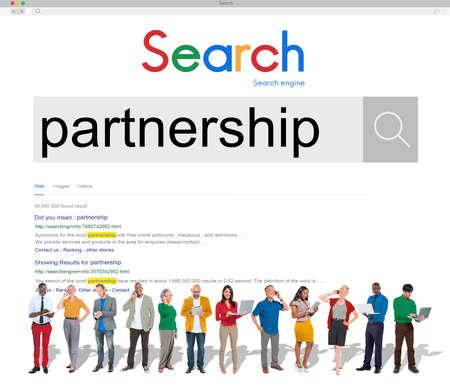 technology agreement: Partners Partnership Alliance Teamwork Unity Concept Stock Photo