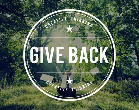 a helping hand: Give Give Back Helping Hand Charity Donate Concept