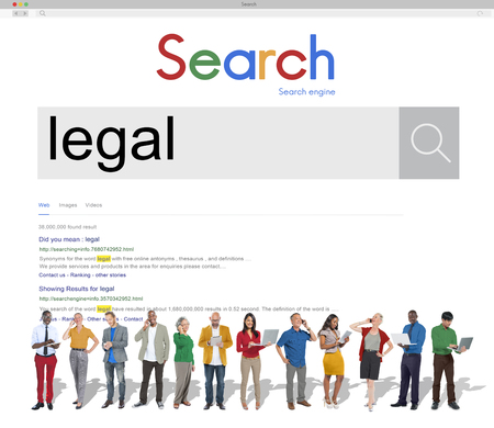 legitimate: Group of People Connect Technology Device Search Concept