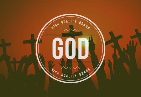 creer: Dios cree la Santa Biblia Jesús Concept