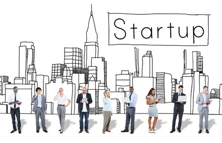 asian business: Startup New Business Vision Strategy Launch Concept