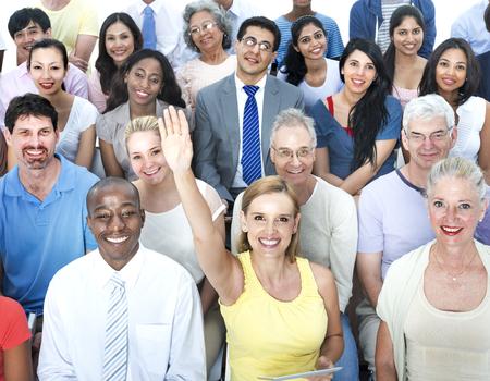 multiethnic: Diverse Group People Multiethnic Workshop Concept
