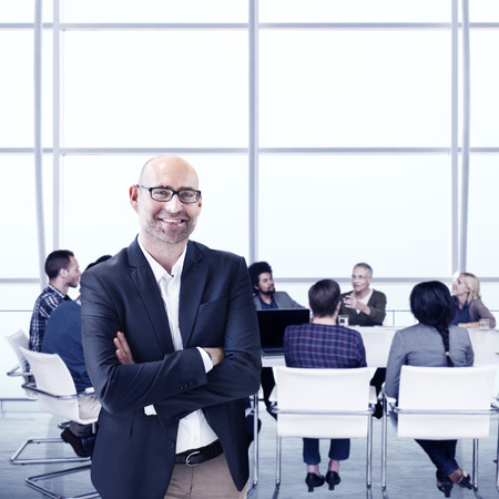mature adult: Business People Meeting Leadership Teamwork Concept Stock Photo