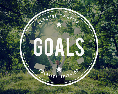 hopeful: Goals Mission Hopeful Success Aim Concept