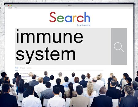 immune system: Immune System Healthcare Disease Antibody Concept Stock Photo
