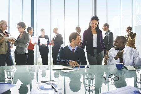 teamwork business: Business People Meeting Corporate Teamwork Collaboration Concept