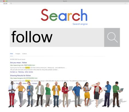 followers: Follow Followers Following Share Sharing Social Concept Stock Photo