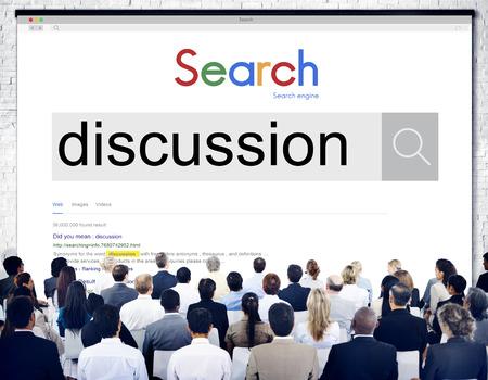 negociacion: Argumento Discusión Discusión Debate Negociar Concept