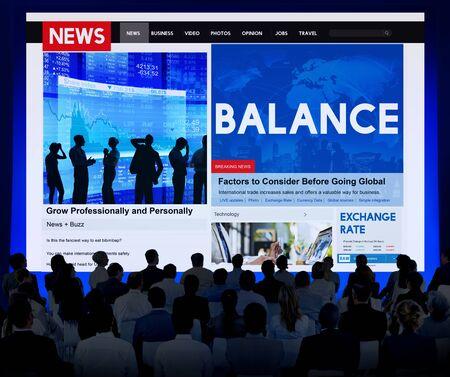stabilize: Balance Finance Banking Credit Debit Concept