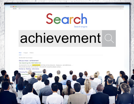 Audience with achievement concept 스톡 콘텐츠