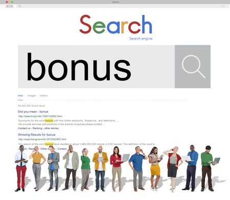 finance concept: Bonus Extra Benefit Incentive Reward Money Finance Concept Stock Photo