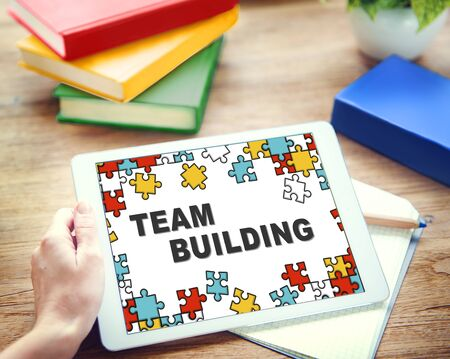 building planners: Team Building Collaboration Connection Corporate Teamwork Concept