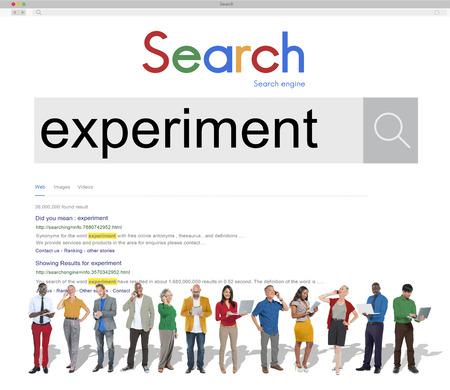 determine: Experiment Observation Examination Determine Concept Stock Photo